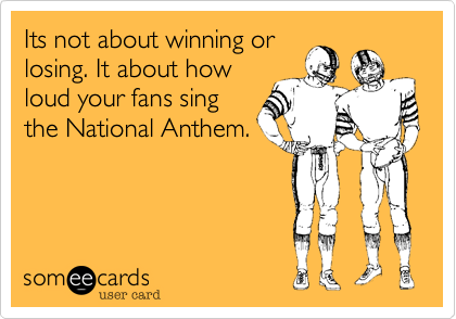 Its not about winning or
