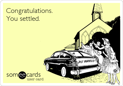 Congratulations. You settled.