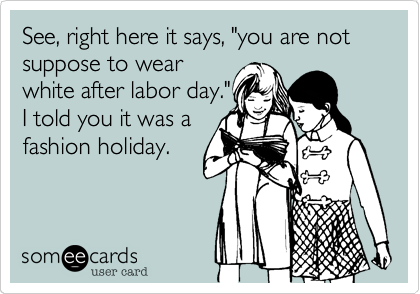 "See, right here it says, ""you are not suppose to wear 