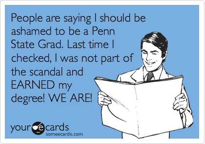 People are saying I should be ashamed to be a Penn