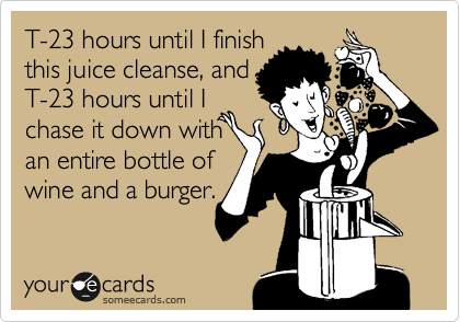 T-23 hours until I finish