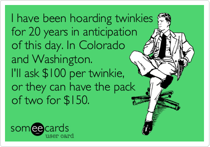 I have been hoarding twinkies