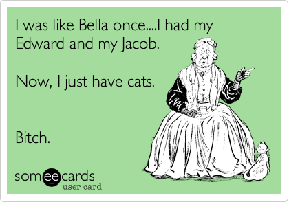 I was like Bella once, I had my Edward and my Jacob.