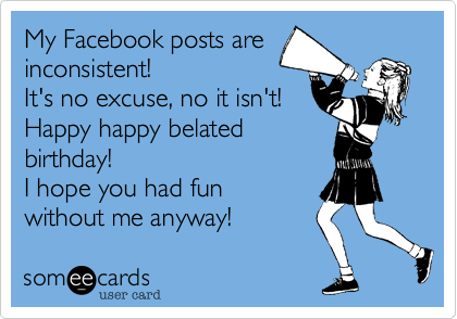 My Facebook posts are