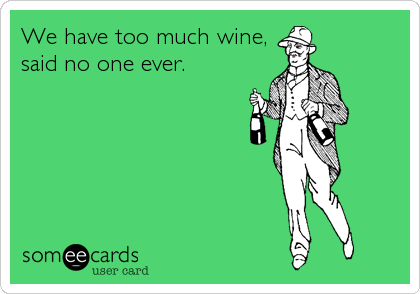 We Have Too Much Wine Said No One Ever Friendship Ecard
