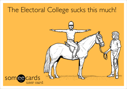 The Electoral College sucks this much!