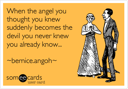 When the angel you