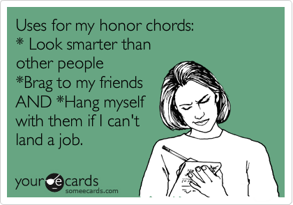 Uses for my honor chords: 