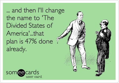 ... and then I'll change