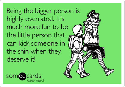 Bing the bigger person is