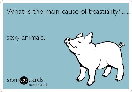 What is the main cause of beastiality?.........
