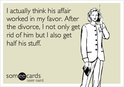I actually think his affair 