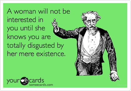 A woman will not be