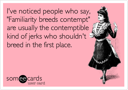 I've noticed people who say,