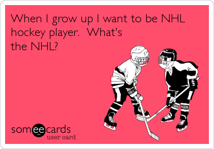 When I grow up I want to be NHL hockey player.  What's the NHL?