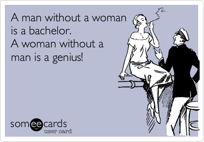 A man without a woman