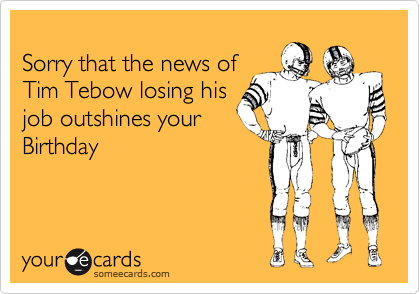 Sorry that the news of