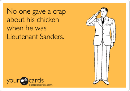 No one gave a crap 