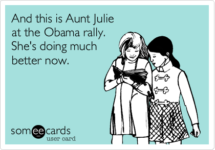 And this is Aunt Julie 