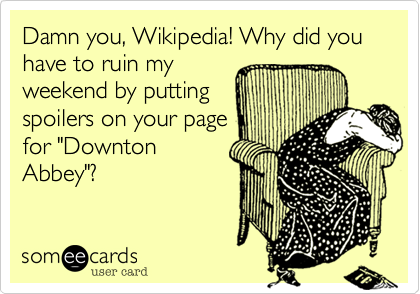 Damn you%2C Wikipedia! Why did you have to ruin my