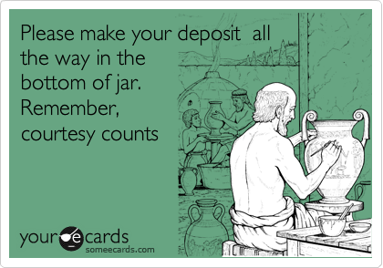 Please make your deposit  all
