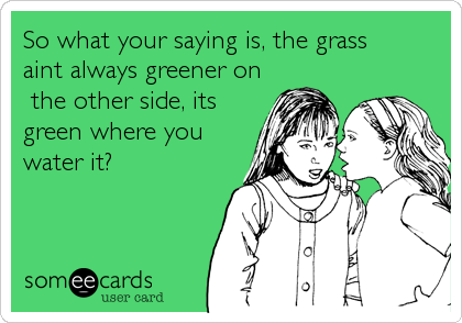 So what your saying is, the grass