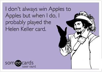 I don't always win Apples