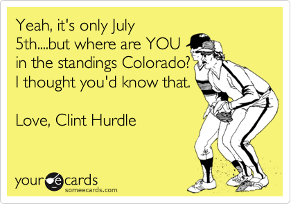 Yeah, it's only July