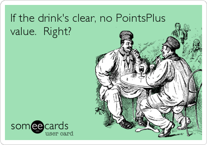 If the drink's clear, no PointsPlus value.  Right?