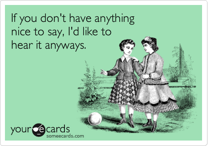 If you don't have anything 