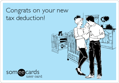 Congrats on your new tax deduction!