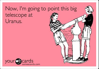 Now, I'm going to point this big telescope at Uranus.