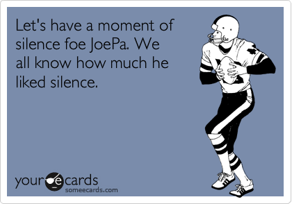 Let's have a moment of