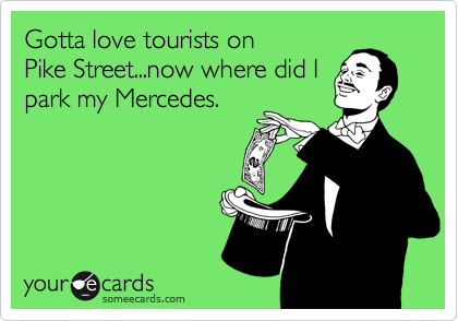 Gotta love tourists on