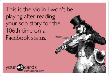 This is the violin I won't be 