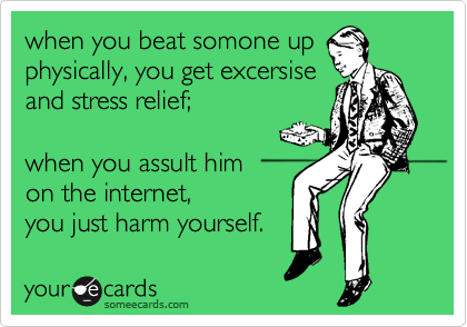 when you beat somone up