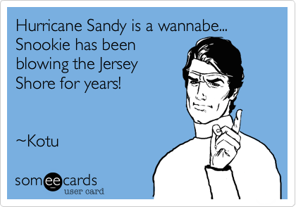 Hurricane Sandy is a wannabe...