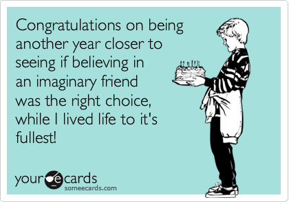 Congratulations on being