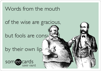 Words from the mouth