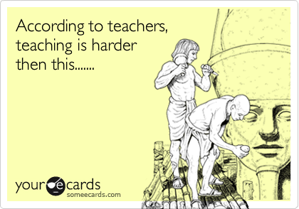 According to teachers, 