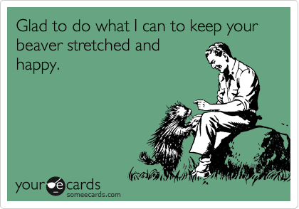 Glad to do what I can to keep your beaver stretched and happy.