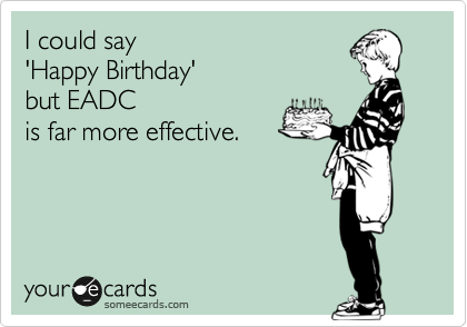 I could say 