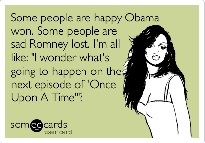 Some people are happy Obama won. Some people are