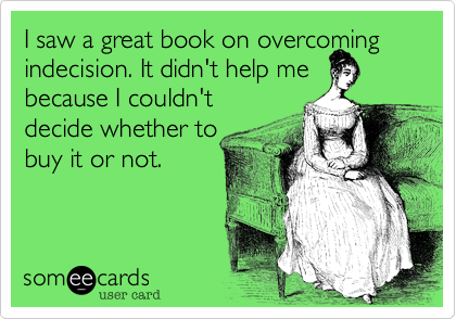 I saw a great book on overcoming
