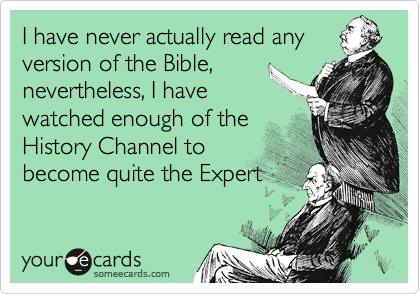 I have never actually read any