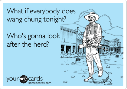 what does everybody wang chung tonight mean