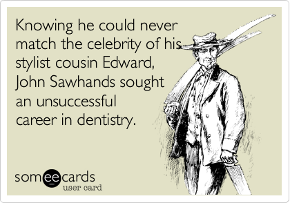 Knowing he could never