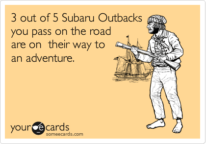 3 out of 5 Subaru Outbacks
