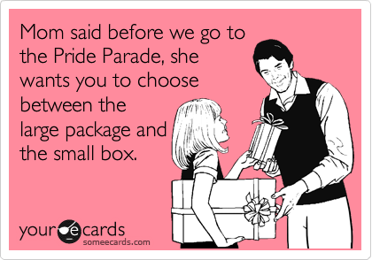 Mom said before we go to