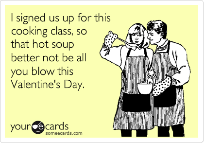 I signed us up for this